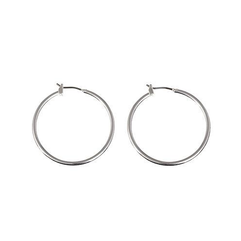 Gloria Vanderbilt® Large Silver-Tone Hoop Earrings