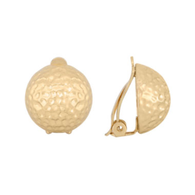 jcpenney.com | Gloria Vanderbilt® Hammered Button Clip-On Earrings