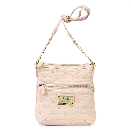 Nicole By Nicole Miller Randy Quilted Studded Crossbody Bag
