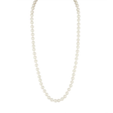 jcpenney.com | Vieste® Simulated Pearl Strand Necklace