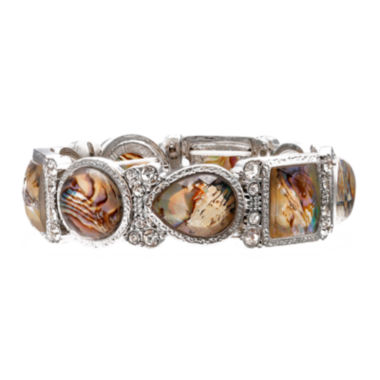 jcpenney.com | Bold Elements™ Multicolor Stone Silver-Tone Stretch Bracelet