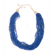 Mixit™ Blue Seedbead and Silver-Tone Necklace