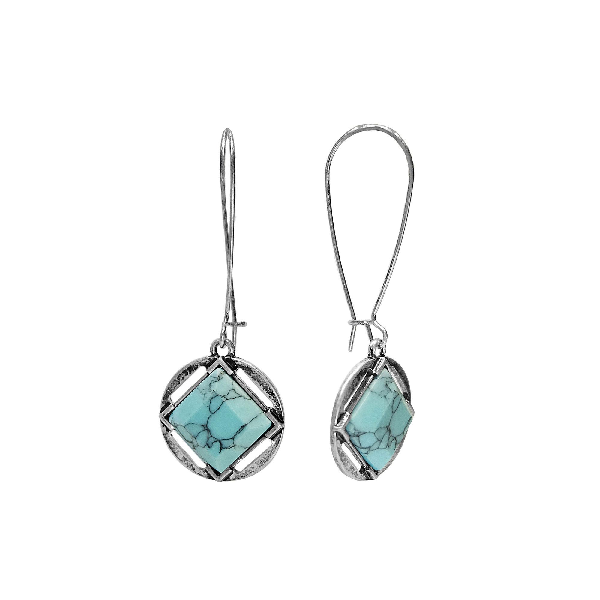 Studio By Carol Dauplaise A-Wire Drop Earrings