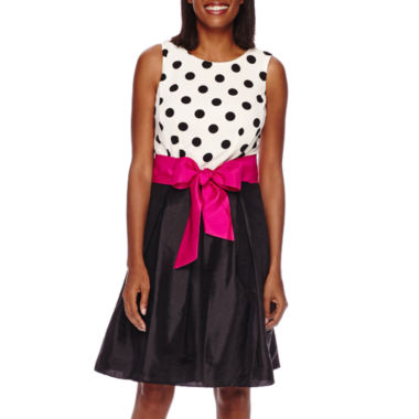 jcpenney.com | R&K Originals® Sleeveless Polka Dot Pleated Party Dress