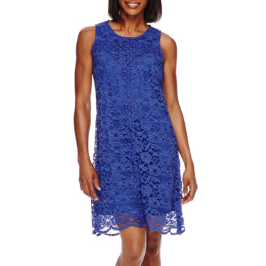 jcpenney.com | Donna Ricco Sleeveless Crochet Lace A-Line Dress - Petite