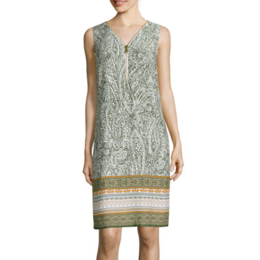 jcpenney.com | MSK Sleeveless Zipper-Front Sheath Dress