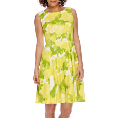 jcpenney.com | Studio 1® Sleeveless Floral Fitand Flare Dress - Petite