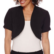 R&K Originals® Short-Sleeve Knit Bolero Jacket