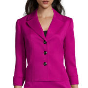Chelsea Rose 3/4-Sleeve Cuffed Textured Jacket