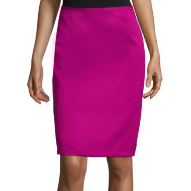 jcpenney.com | Chelsea Rose Textured Pencil Skirt