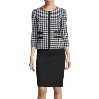 jcpenney.com | R&K Originals® 3/4-Sleeve Houndstooth Print Jacket & Skirt Suit Set