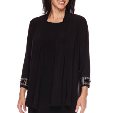 jcpenney.com | Blu Sage 3/4-Sleeve Beaded Cuff Shrug