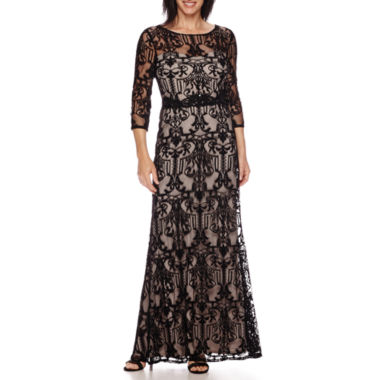 jcpenney.com | Melrose 3/4-Sleeve Formal Lace Gown