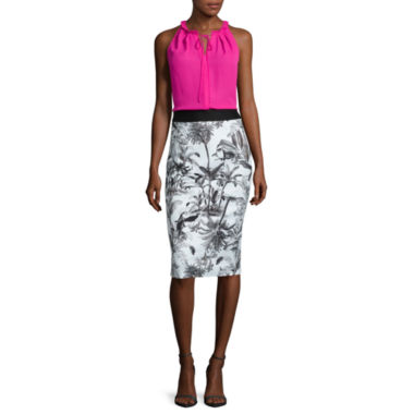 jcpenney.com | Worthington® Halter Blouse with Tie or Pencil Skirt - Tall