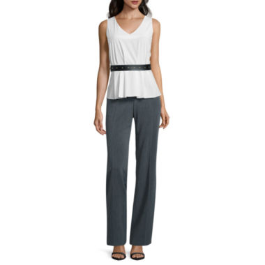 jcpenney.com | Worthington® Belted Peplum Shirt or Curvy Fit Pants - Tall