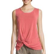 Liz Claiborne® Knot-Hem Tank Top - Tall