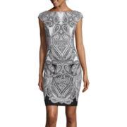 Liz Claiborne® Cap-Sleeve Paisley Sheath Dress