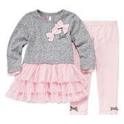 Nannette Long-Sleeve Cotton Tunic and Leggings Set - Baby Girls 3m-24m