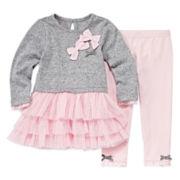Nannette Long-Sleeve Cotton Tunic and Leggings Set - Baby Girls 3m-24m
