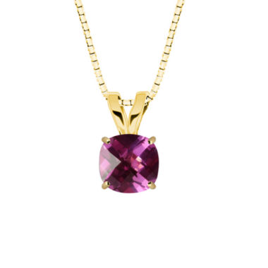 jcpenney.com | Lab-Created Checkerboard Cut Pink Sapphire 10K Yellow Gold Pendant Necklace