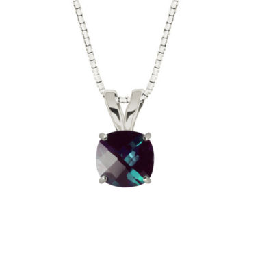 jcpenney.com | Lab Created Checkerboard Cushion Alexandrite 10K White Gold Pendant