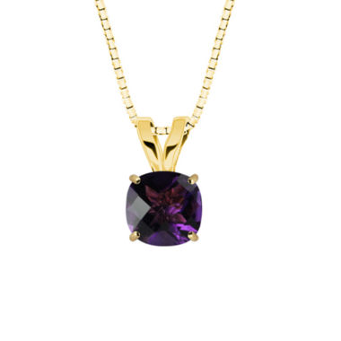 jcpenney.com | Genuine Amethyst 10K Yellow Gold Pendant Necklace