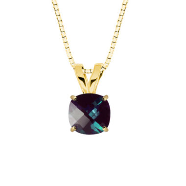 jcpenney.com | Lab-Created Alexandrite 10K Yellow Gold Pendant Necklace