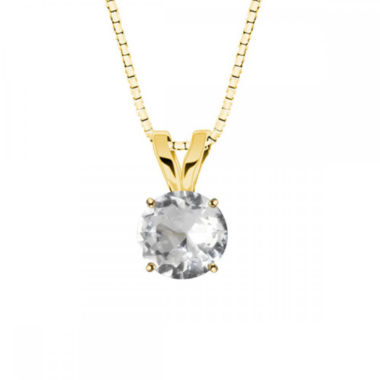jcpenney.com | White Topaz 10K Yellow Gold Pendant Necklace