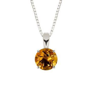 jcpenney.com | Round Citrine Sterling Silver Pendant