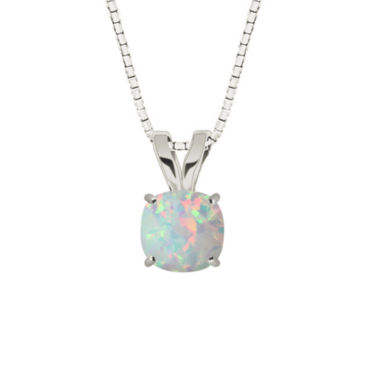 jcpenney.com | Lab-Created Opal Sterling Silver Pendant Necklace