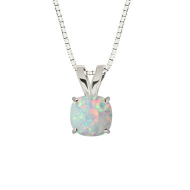 jcpenney.com | Lab-Created Opal 10K White Gold Pendant Necklace