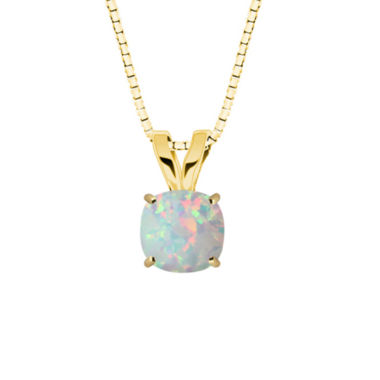 jcpenney.com | Lab-Created Opal 10K Yellow Gold Pendant Necklace