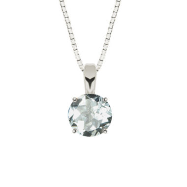 jcpenney.com | Simulated Aquamarine Sterling Silver Pendant Necklace