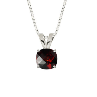 jcpenney.com | Genuine Garnet 10K White Gold Pendant Necklace