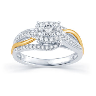 jcpenney.com | 1/2 CT. T.W. Diamond 14K Tw-Tone Gold Engagement Ring