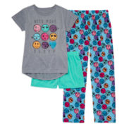 Total Girl® 3-pc. Need More Sleepwear Set - Girls