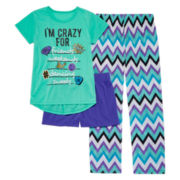 Total Girl® 3-pc. I'm Crazy For List Sleepwear Set - Girls
