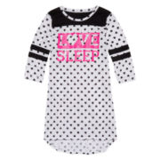 Total Girl® Long-Sleeve Heart Love Dorm Sleepwear - Girls