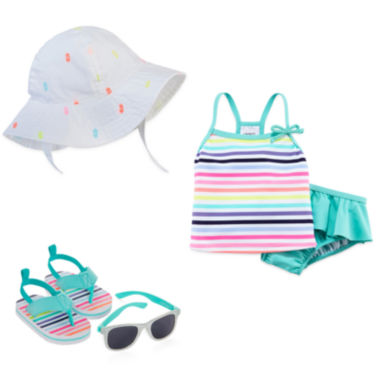 jcpenney.com | Carter's® Sunhat, Sunglasses, Sandals or Swim Set - Baby Girls newborn-24m