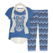 Knit Works® Short-Sleeve Foil Top and Leggings Set - Girls 7-16