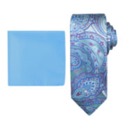 Steve Harvey® Paisley Tie and Pocket Square Set