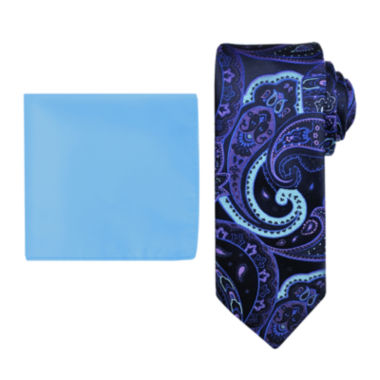 jcpenney.com | Steve Harvey® Paisley Tie and Pocket Square Set - Extra Long