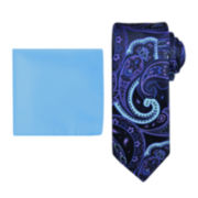 Steve Harvey® Paisley Tie and Pocket Square Set - Extra Long