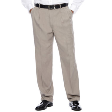 jcpenney.com | Savane® Micro Mélange Pleated Dress Pants - Big & Tall