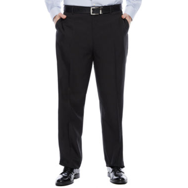jcpenney.com | Savane® Crosshatch Flat-Front Dress Pants - Big & Tall