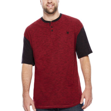 jcpenney.com | Zoo York® Short-Sleeve Quill Henley Tee - Big & Tall