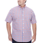 IZOD® Short-Sleeve Woven Button-Front Shirt - Big & Tall