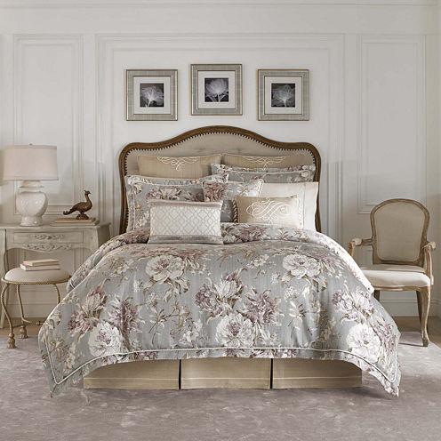 Croscill Classics® Lavendar and Gray Floral 4-pc. Comforter Set