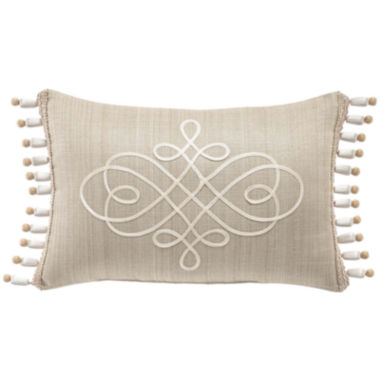 jcpenney.com | Croscill Classics® Lavender and Gray  Floral 18x12 Boudoir Decorative Pillow