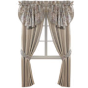 Croscill Classics® Lavender and Gray Floral 2-pk. Rod-Pocket Curtain Panels